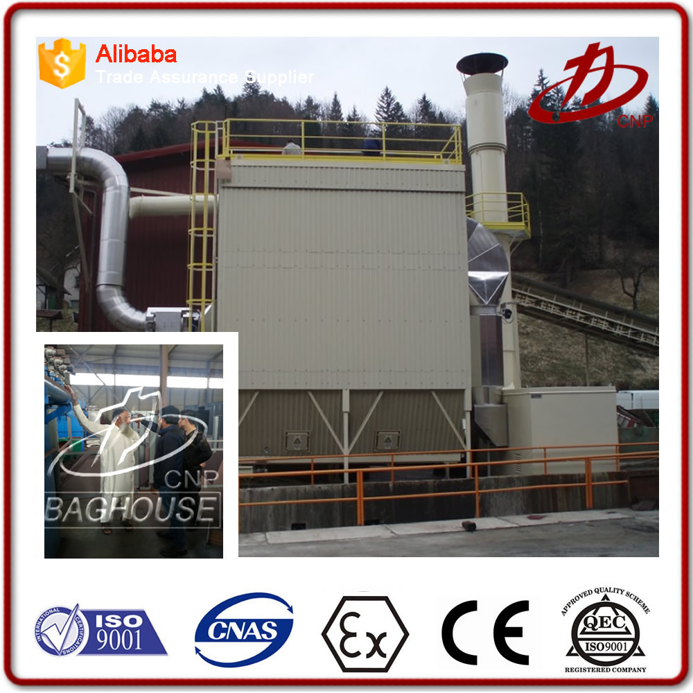 Cement plant pulse jet bag filter