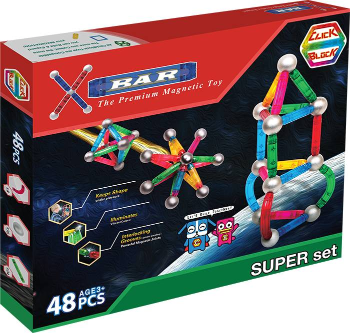 X-BAR SUPER Educational magnetic block toy