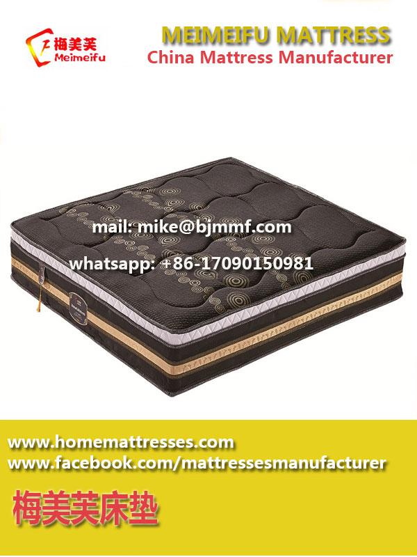 2017 Rolled Memory Foam Pocket Spring Mattress made in China   Meimeifu Mattress