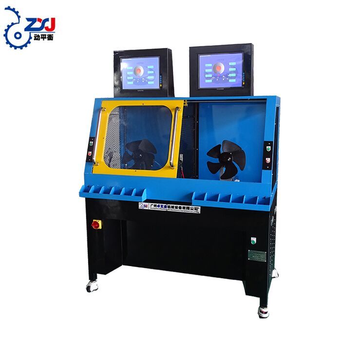 specification dynamic balancing machine with bearing support for fan blade