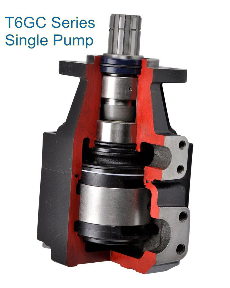 T6GC Single Pump Thru Drive Vane Pump for Street Sweeper