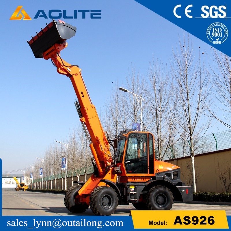 Chinese factory small telescopic wheel loader AS926 with low prices for sale