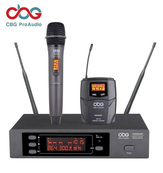 iWM3500 160 CHN True Diversity UHF Wireless Microphone System