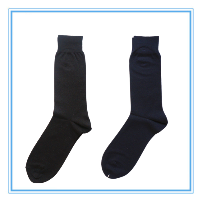 Men's Plain Mercerized Cotton Socks