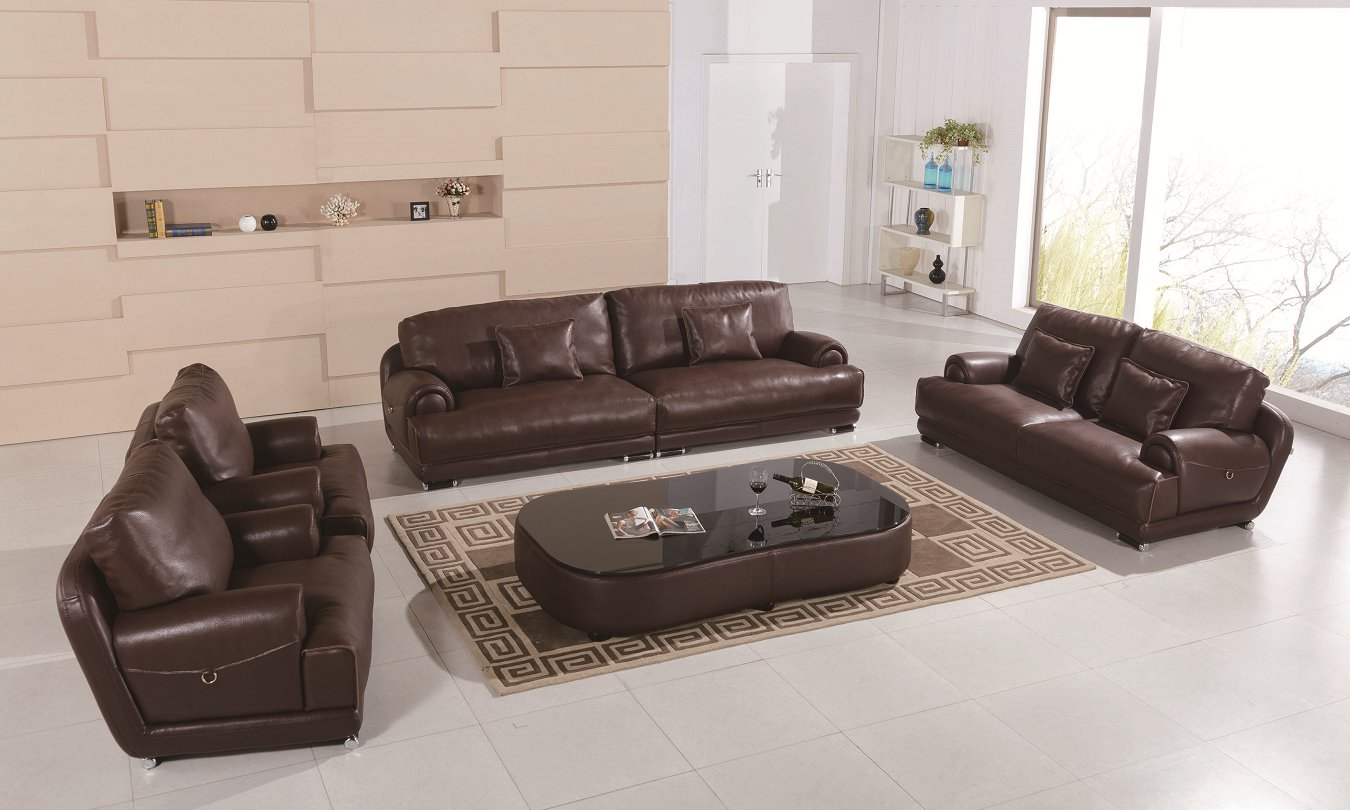 New Design Living Room Furniture Luxury Leather Sofa