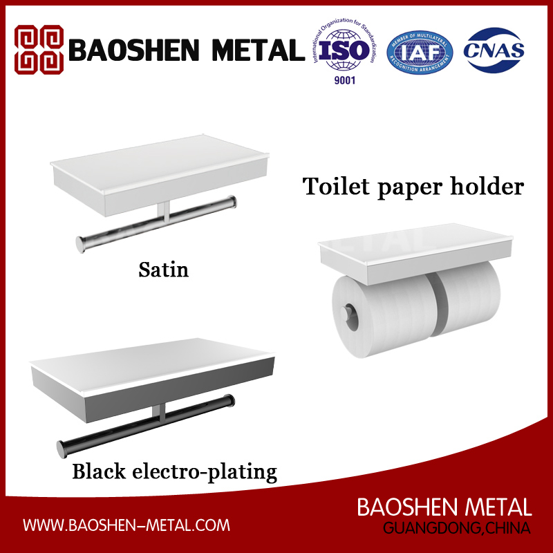 Stainless Steel Toilet Paper Holder Commodity Shelf for Bathroom Fittings Accessories