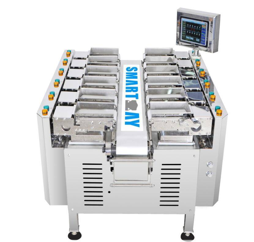 12 heads linear combination weigher for chicken,meat, fruit and vegetable