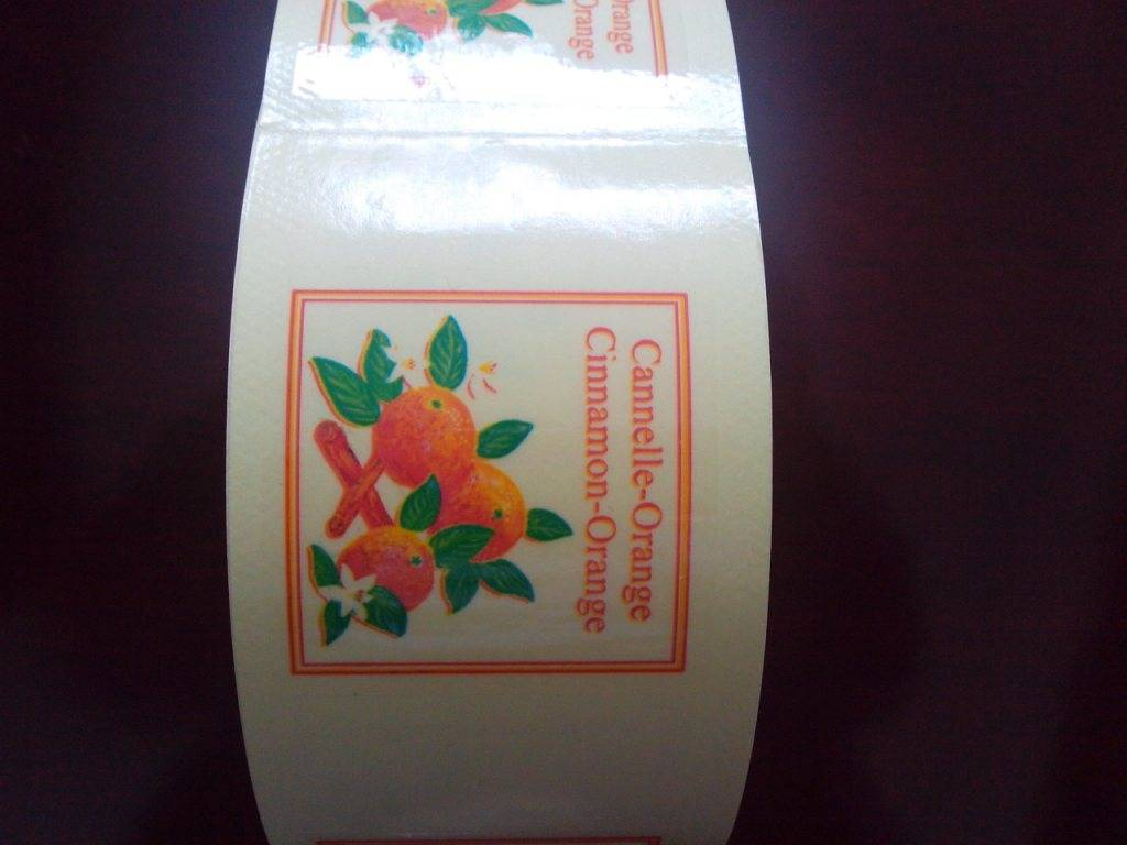 Transparent Cannelle Orange Cosmetic Bottle Labels in Rolls