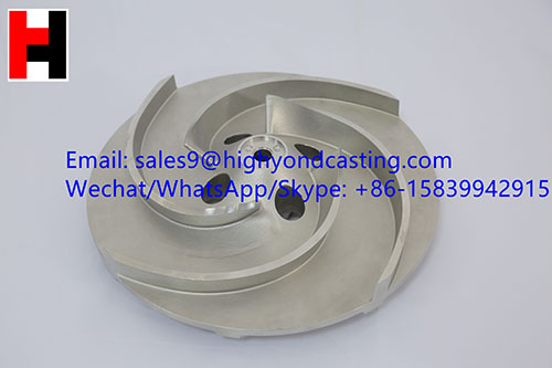 China supply investment casting lost wax stainless steel blower impeller