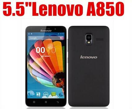 wholesale lenovo octa core dual sim card 3g mobile phone A850+ MTK6592 android smart phone