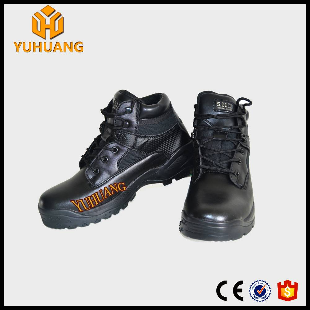 new style High ankle  leather  army/commando safety boots