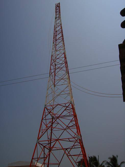 60m,70m,80 meters telecommunication lattice steel tower