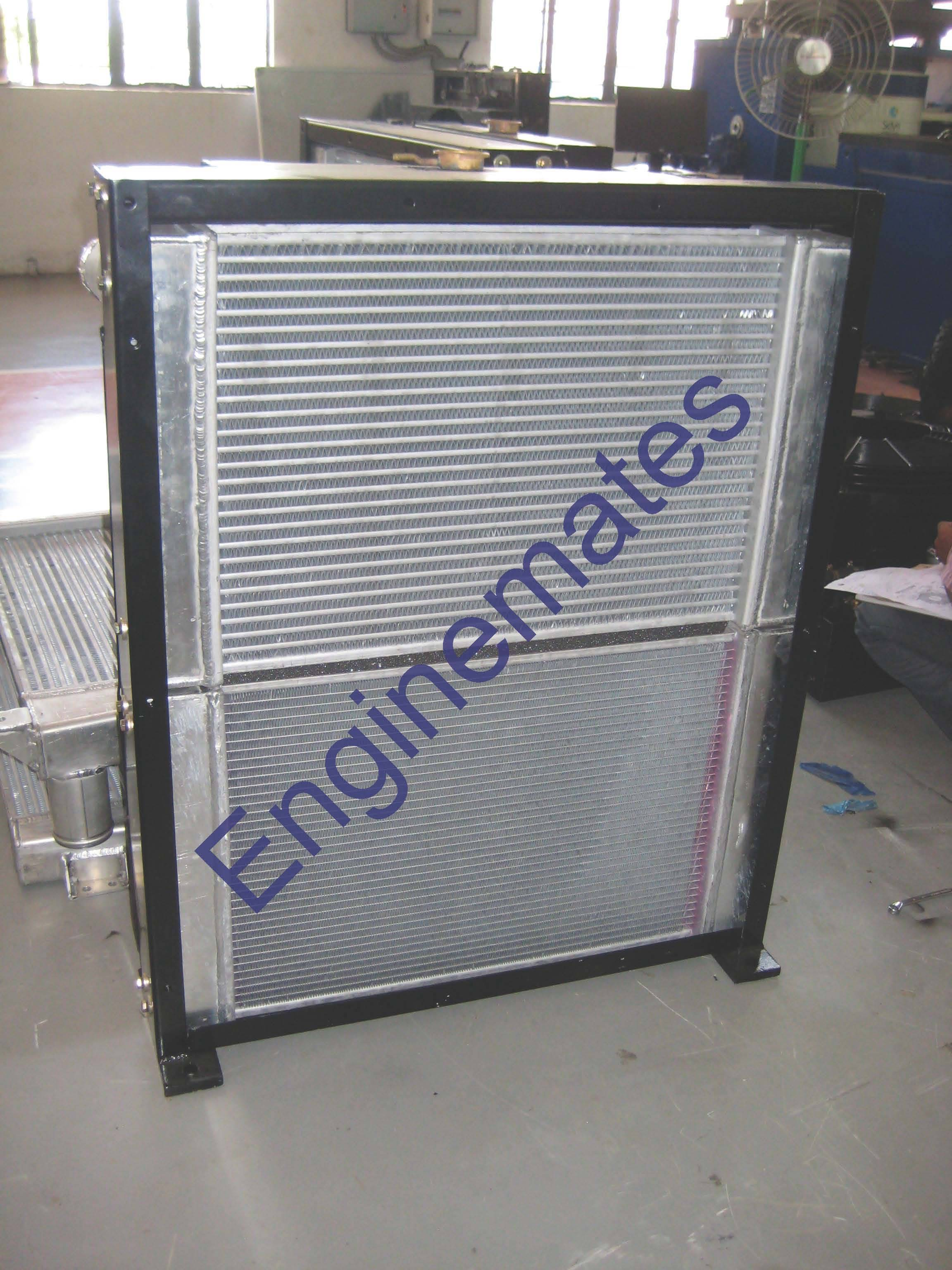 Radiator cum Oil Cooler for construction equipments.