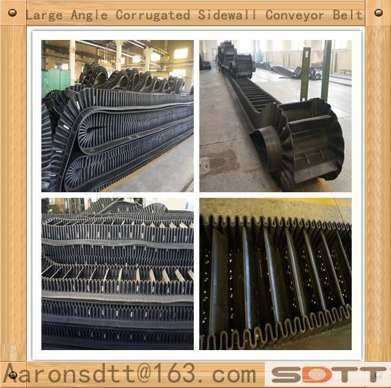 Large Angle Side wall Corrugated Conveyor Belt Assembling