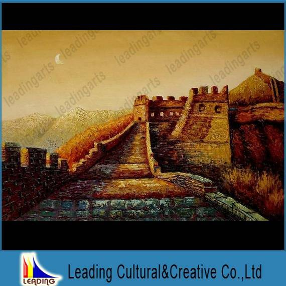 the Great Wall scenery landscape oil painting on canvas