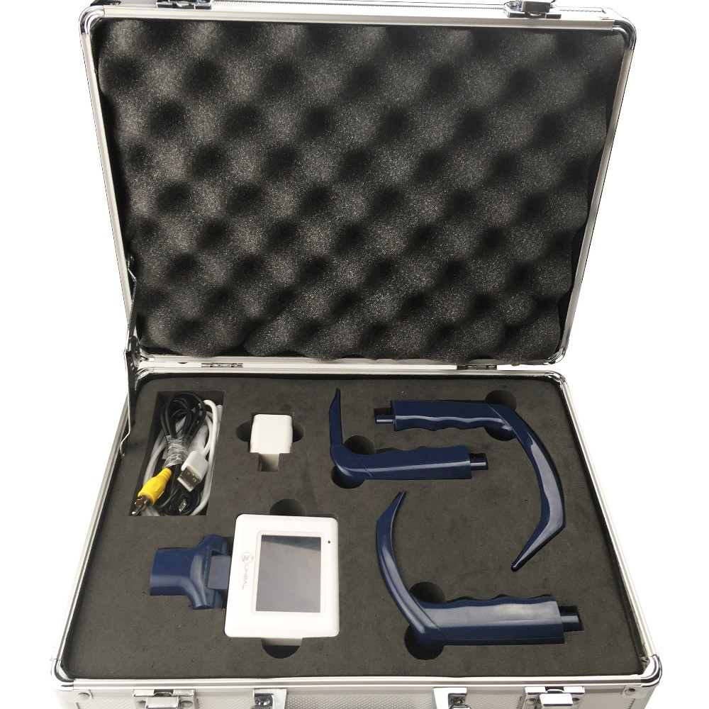 portable anesthesia video laryngoscpe flexible intubation with 3 size blades