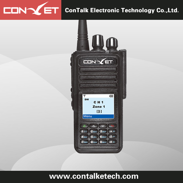 ContalkeTech CTET-DM370 DMR Digital 2 Way Radio UHF400-470MHz with Color LCD Display VOX Message