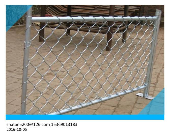 Hot Dipped Galvanized Chain Link Fence PVC Coated Low Carbon Steel ISO9001