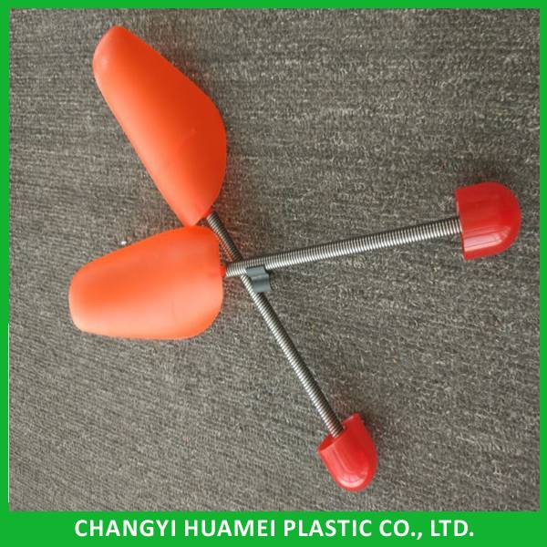 custom color PP plastic shoe tree with metal spring