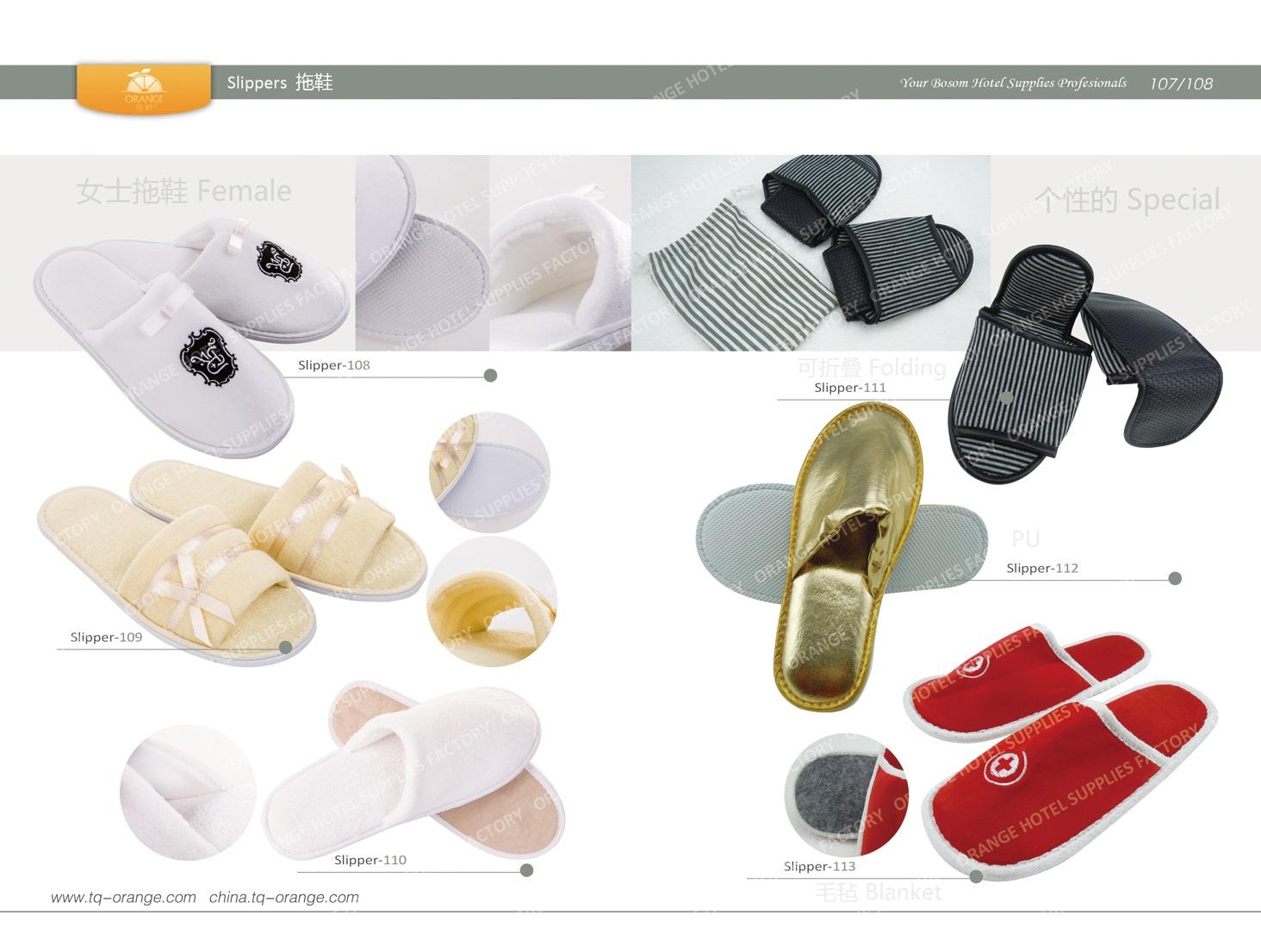 Hotel Female slippers, Folding slippers,PU slippers, Blanket Slippers