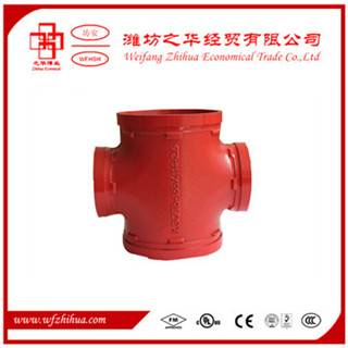 grooved pipe fitting equal cross