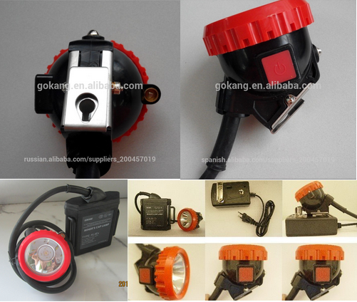 ATEX certified led miners caplamp, 15 hours ligthing time led mining headlamp and miners lamp