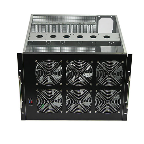 Q-742 7U Miner Mining Frame Rig 6 Graphics Case For 6 GPU ETH Ethereum