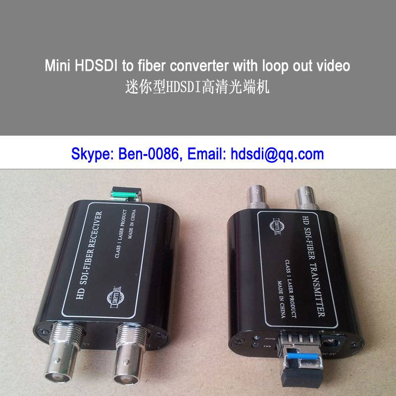 1ch 3G/HD/SD SDI to fiber optic converter