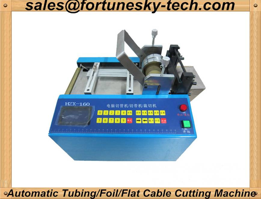 Automatic Flat Ribbon Cable/Copper Foil/Aluminum Foil/Tubing Cutting Machine (Desktop Model)