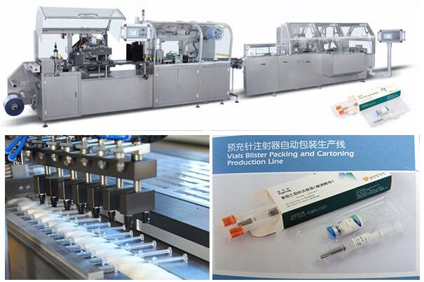 GYC-300 Pre-filled syringes Blister packing and Cartoning packaging line
