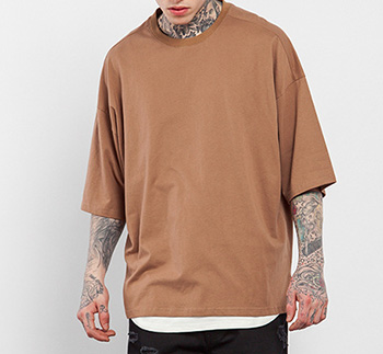 selling Men T-shirt cotton oversize plain color