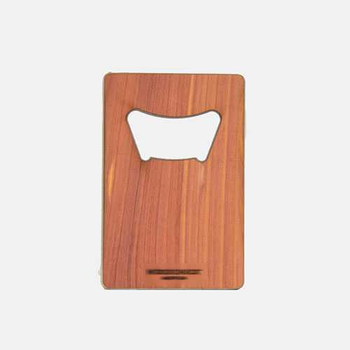 Blank Laser Engrave Credit Card Sized Rubber Wooden Card Beer Bottle Opener