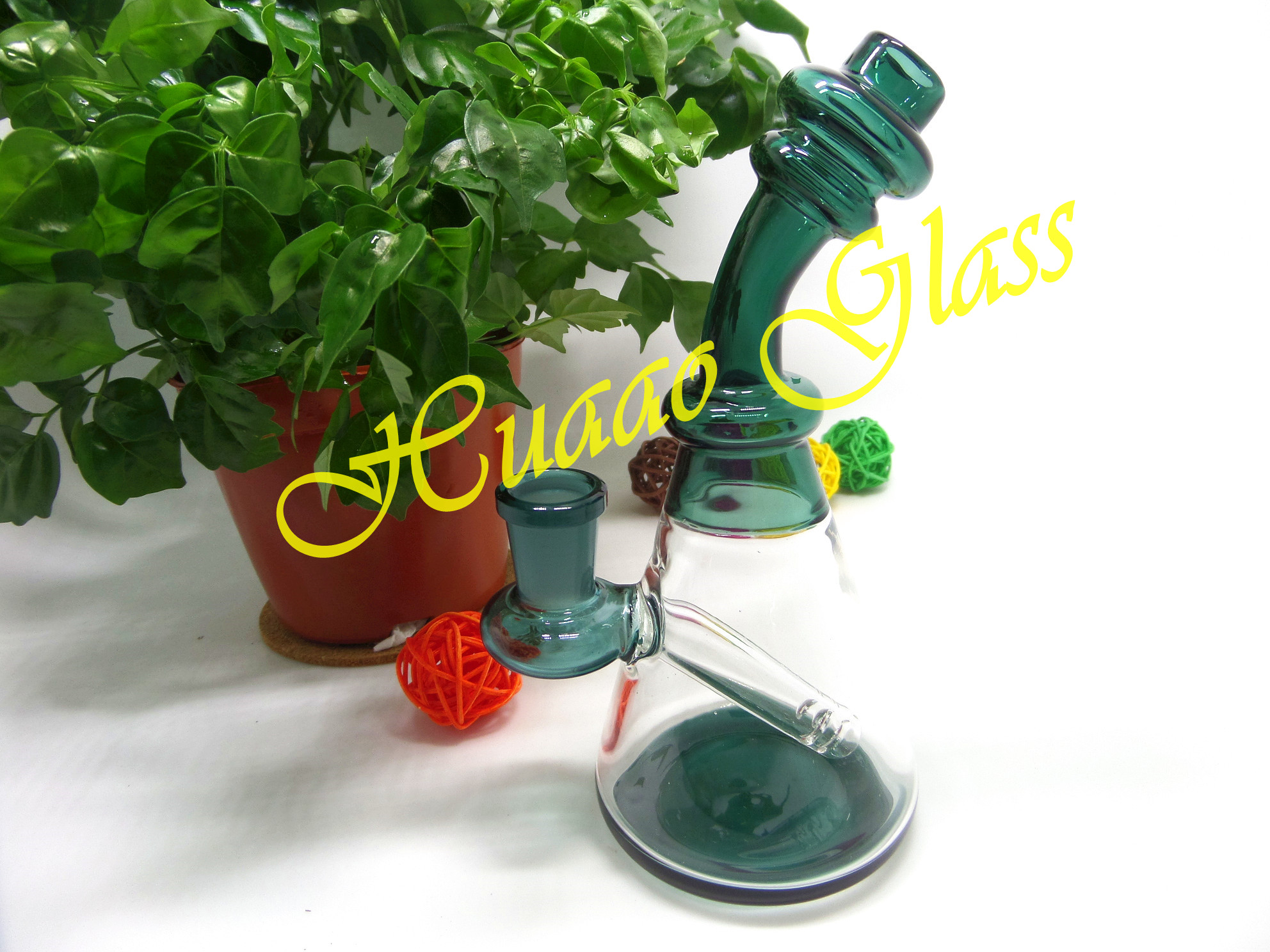8 inches Hand blown 5mm glass pipes High quality borosilicate glass smoking pipe
