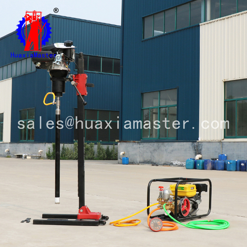 removable core sample drilling rig portable geological BXZ-2L vertical backpack core drilling rig