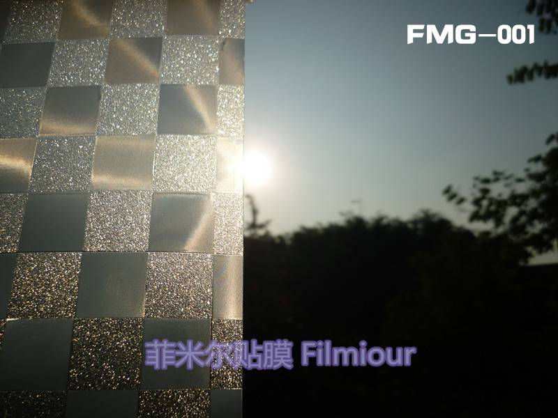 Window Decorative film FMG-001(no glue, static cling)