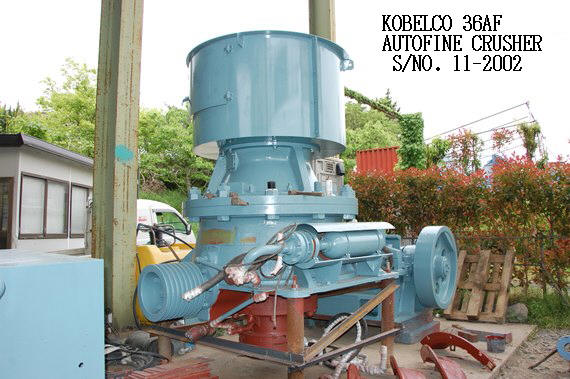 "USED ""KOBELCO"" MODEL 36AF AUTOFINE CRUSHER S/NO. 11-2002 WITH HYDRAULIC OIL TANK & OTHER ACCESSORIES"