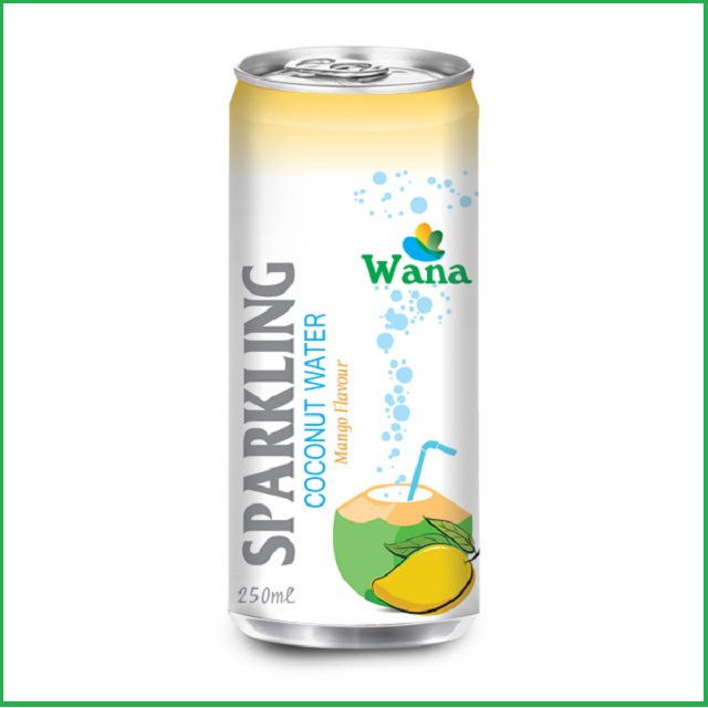 Sparkling Coconut Water with Mango Flavor 250ml Can