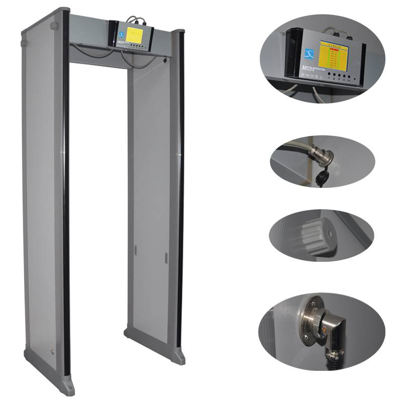 24 zones 299 sensitivity adjustable Protable Walk through metal detector