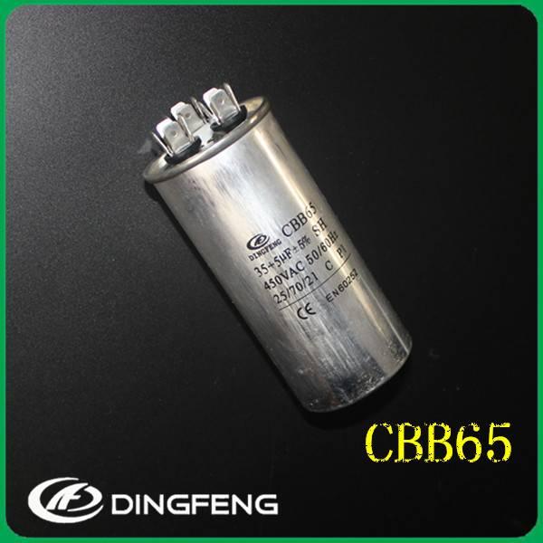 450V air conditon 130uf aluminum ac run capacitor cbb65