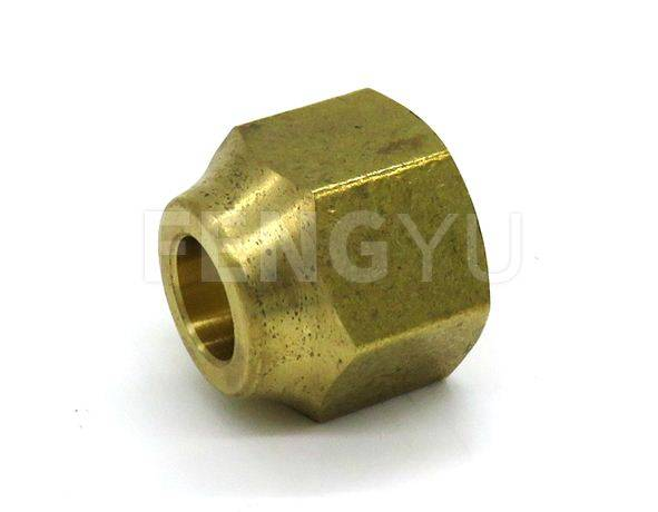 Brass flare union (free lead brass)