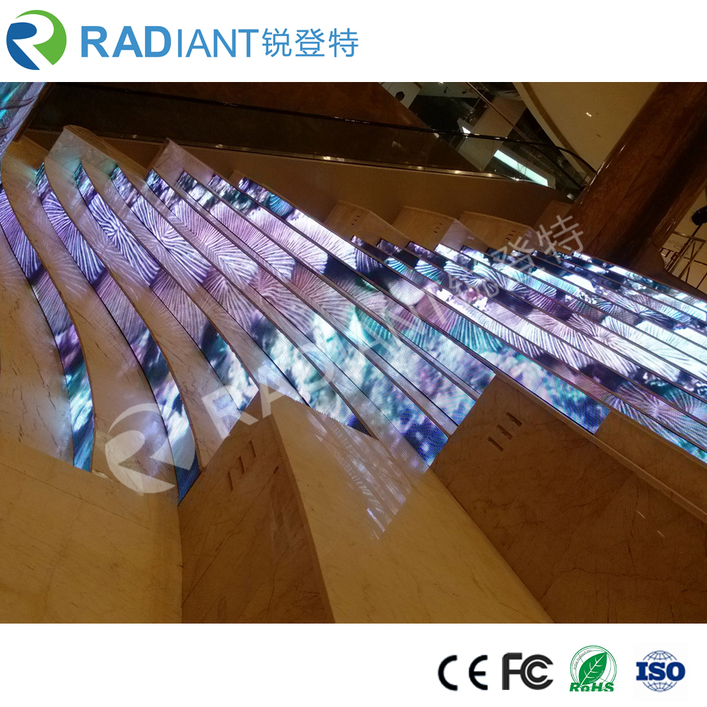 P6 full color advertising sharped indoor curved led video wall