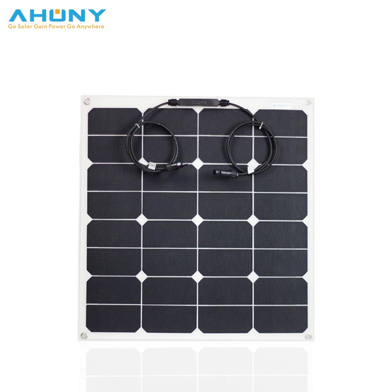 ETFE 50w flexible solar panel white colour long lifespan for camping rv marine boat yacht off grid