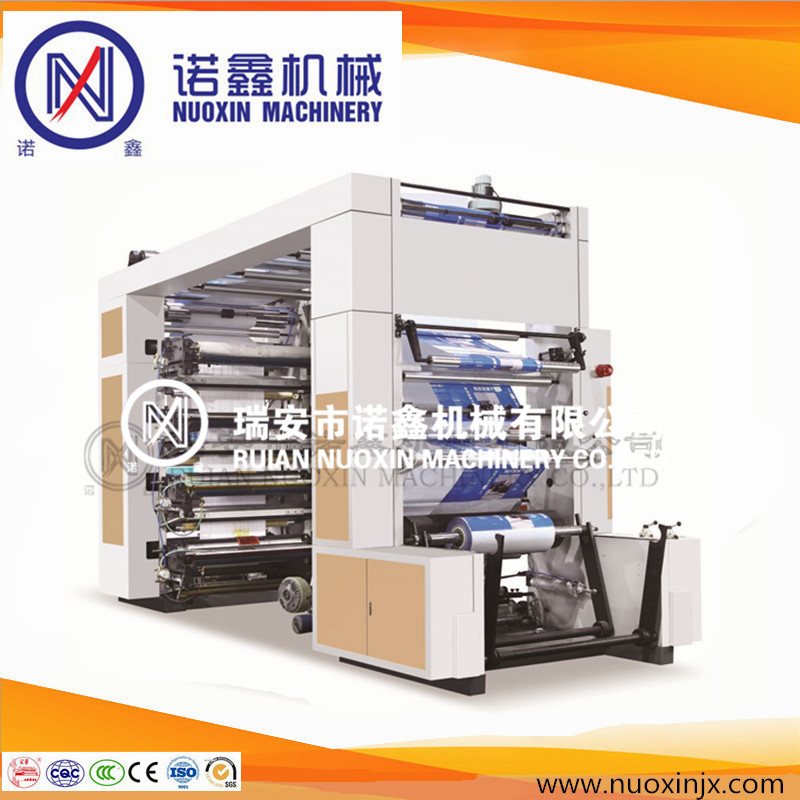 Stack type 8 color plastic film and paper flexographic printing machine