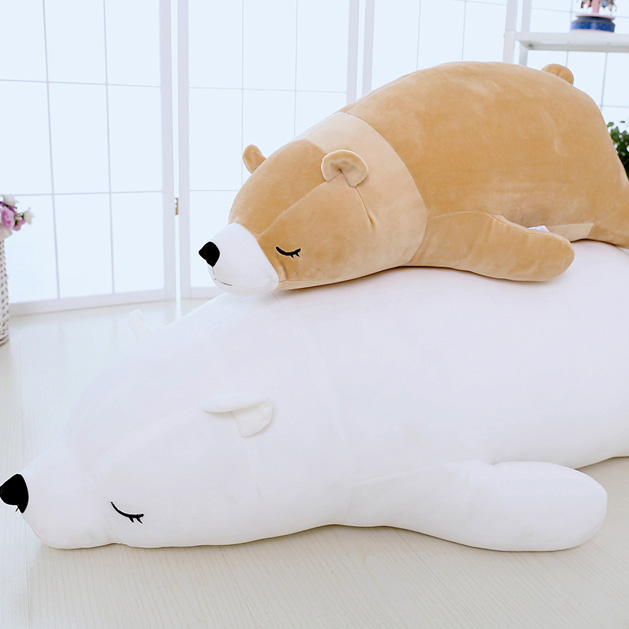 Polar bear plush toy polar bear pillow bear dolls DS-BR001