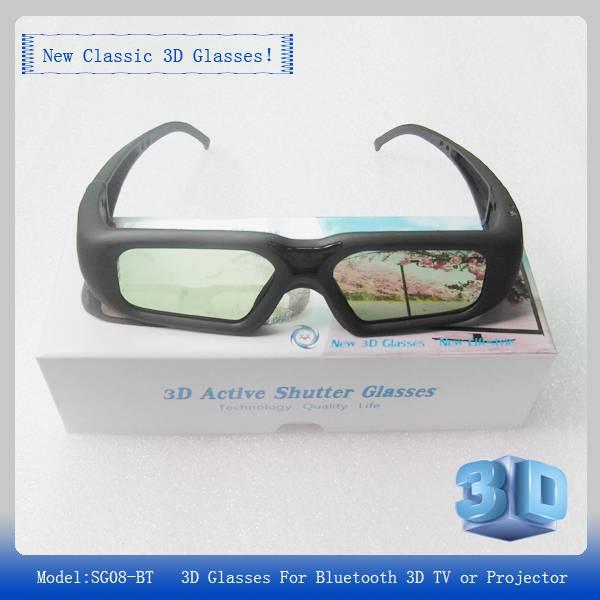 Free shipping SG16-BT 3D Active shutter Glasses 96-144Hz for DLP-Link 3D projector of LG/BENQ/ACER/S