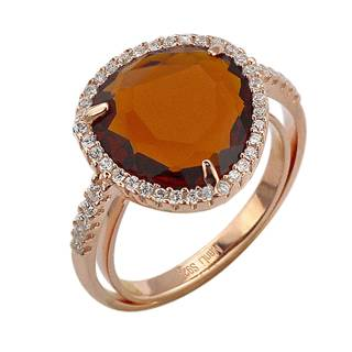 2015 Manli fashion High Quality natural orange plating 18K rose gold Diamond Ring