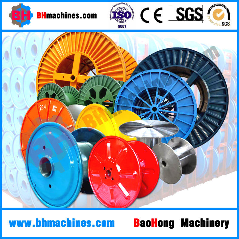 Cable spools metal bobbin with double layer high speed wire reels for sale