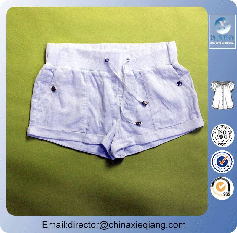 New arrivals white ladies sexy hot shorts