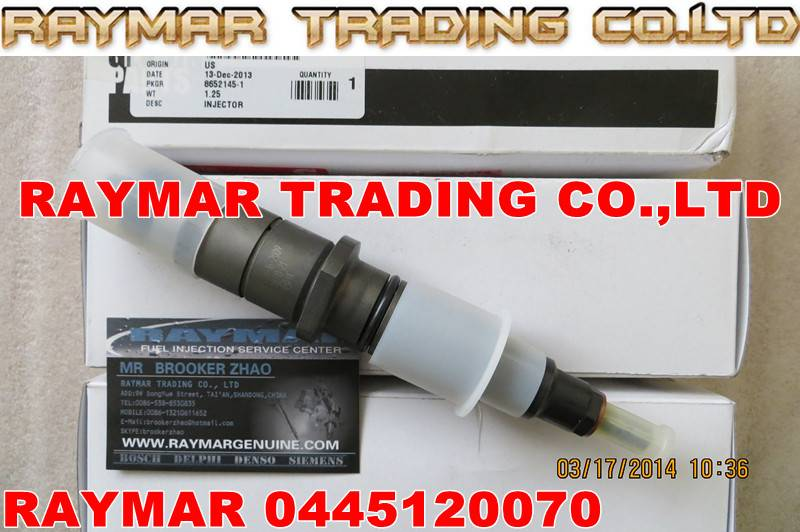 BOSCH Common rail injector 0445120070 0445120241 for Cummins 3976631,4930485, 5263304
