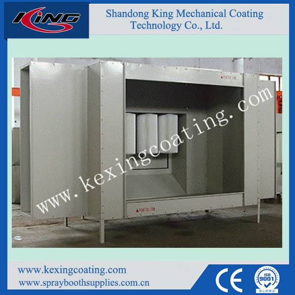 China Best Seller Steel Powder Coating Cabin with Transfer Conveyor